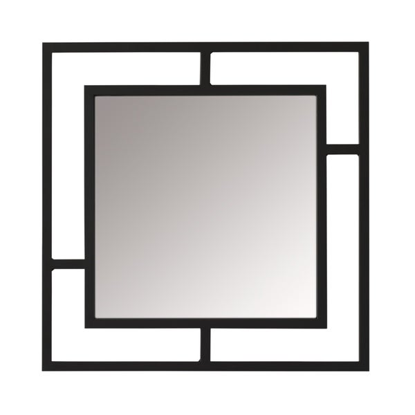 "Studio Designs Home Camber Modern Metal Dual Frame Square Wall Mirror - Pewter - 20 "" W x 20"" H X 5/8 Thick"