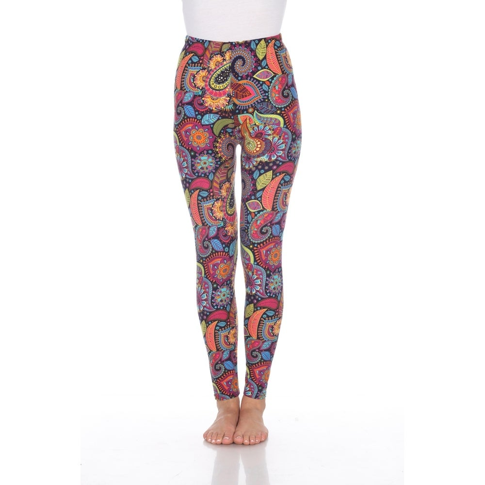 White Mark Womens One Size Fits Most Printed Leggings