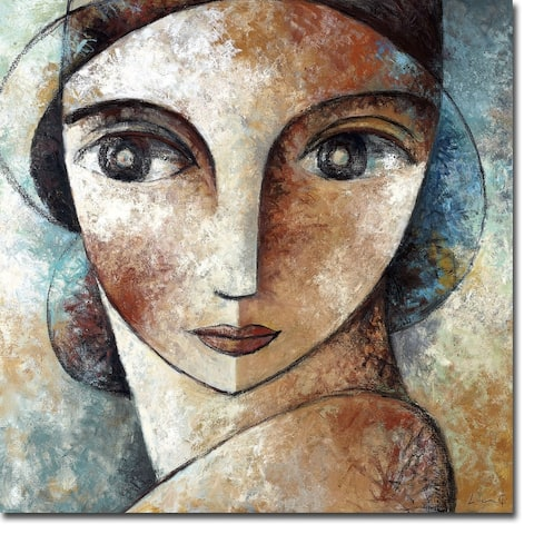 Face by Didier Lourenco Gallery Wrapped Canvas Giclee Art