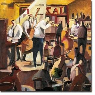 Cita con el Jazz by Didier Lourenco Gallery Wrapped Canvas Giclee Art