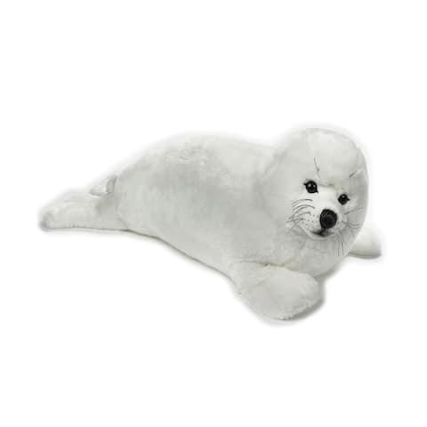 National Geographic Giant Seal Plush - White
