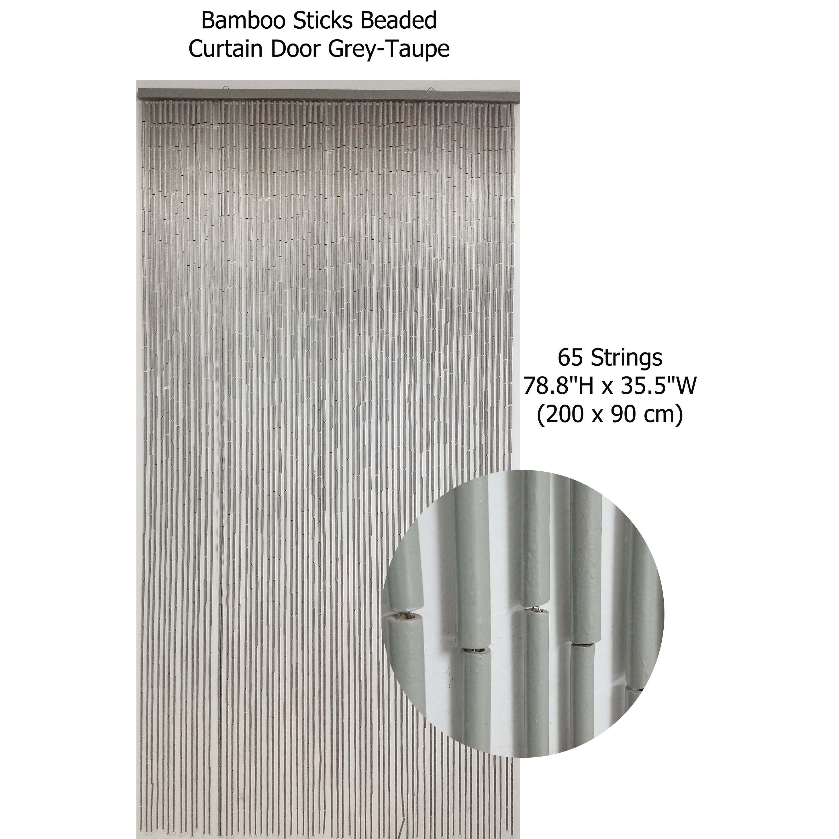 Bamboo Sticks Beaded Curtain Doorway 65 Strings 78 8 H X 35 5 W 78 8h X 35 5 Inch 200x90 Cm 78 8h X 35 5 Inch 200x90 Cm Overstock 23001251