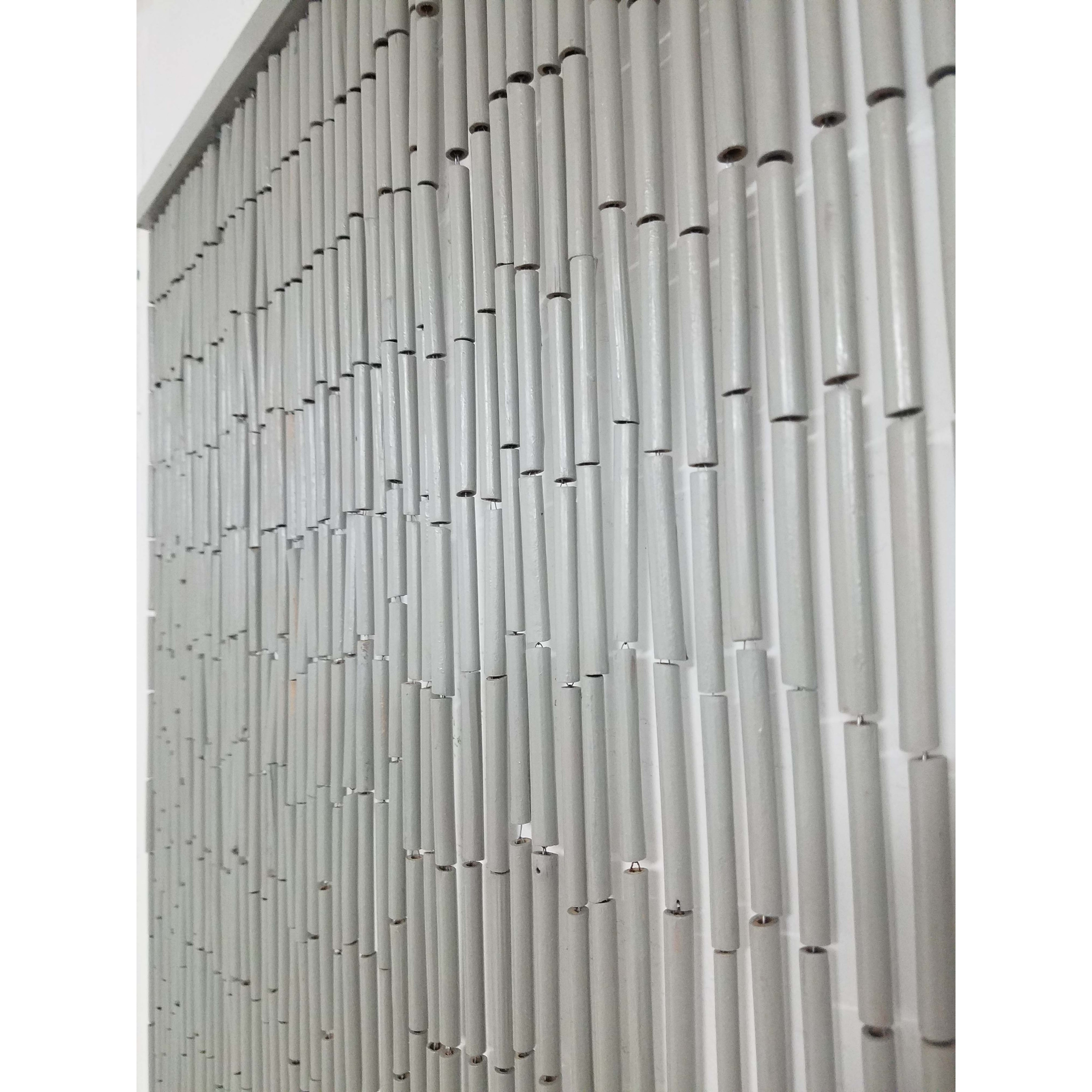 Shop Black Friday Deals On Bamboo Sticks Beaded Curtain Doorway 65 Strings 78 8 H X 35 5 W 78 8h X 35 5 Inch 200x90 Cm 78 8h X 35 5 Inch 200x90 Cm Overstock 23001251 Off White Bohemian Eclectic
