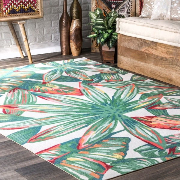 8x10 Indoor Outdoor Area Rugs: Shop NuLOOM Multi Indoor/Outdoor Contemporary Tropical