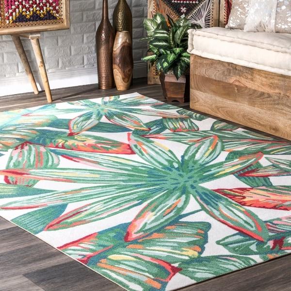 Shop Nuloom Multi Indoor Outdoor Contemporary Tropical