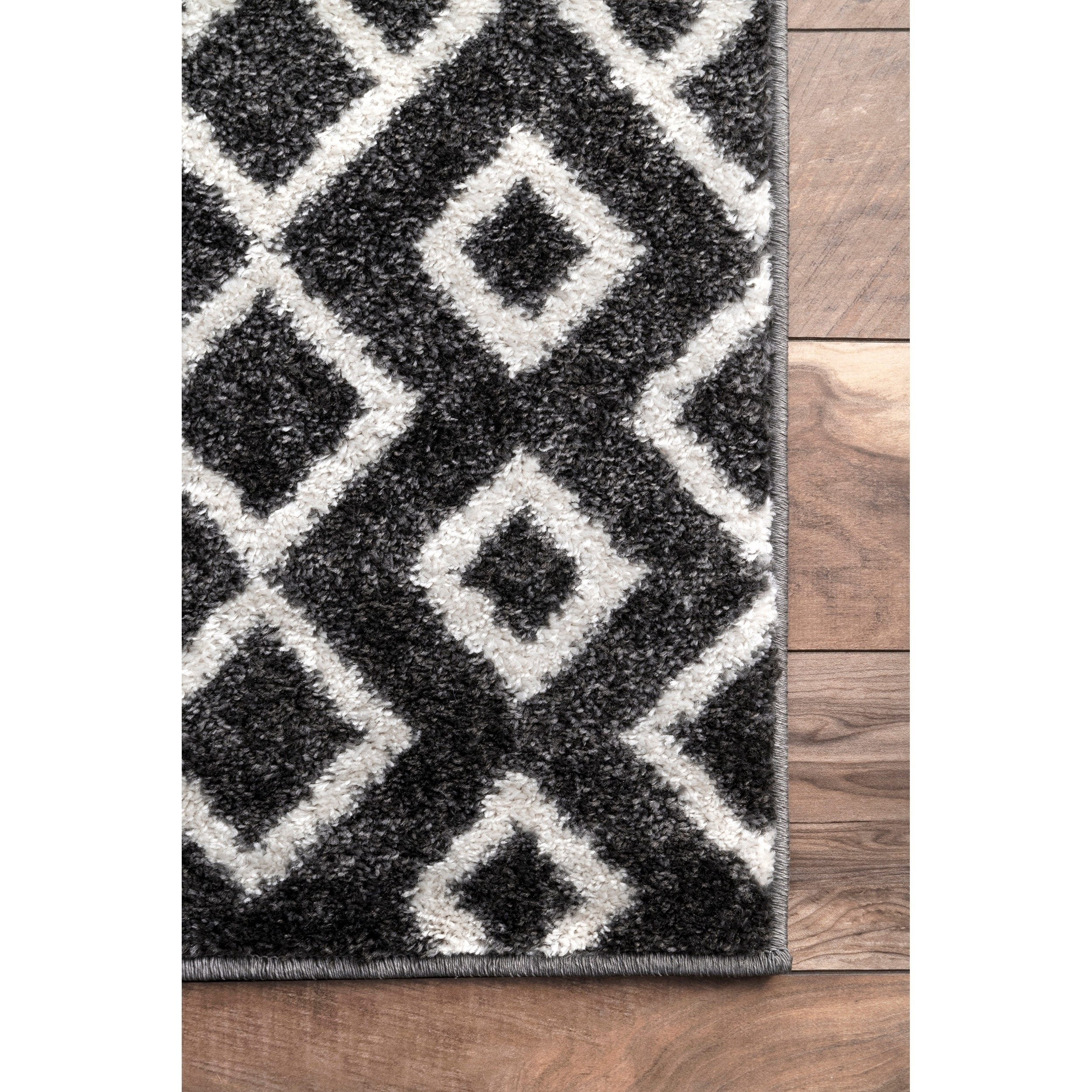 Nuloom Black And White Modern Abstract Boho Electric Lined Ombre Area Rug On Sale Overstock 23001301 5 X 8 Black White