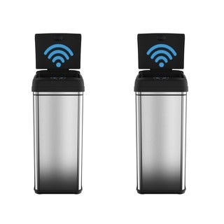 iTouchless Original 13-gallon Deodorizer Filtered Stainless Steel Sensor Trash Can (Pack of 2)
