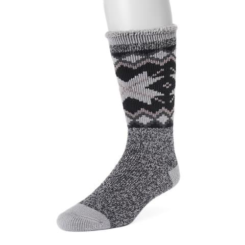 MUK LUKS Mens 1-Pair Heat Retainer Socks