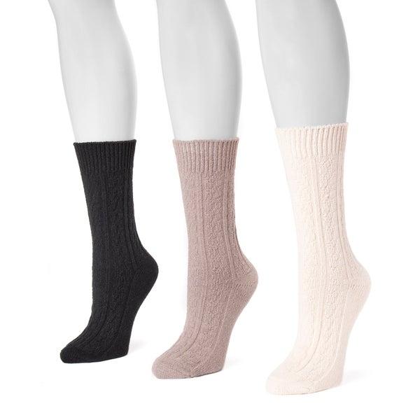 06d0c82d80c Shop MUK LUKS® Women s 3 Pair Pack Boot Socks - Free Shipping On ...