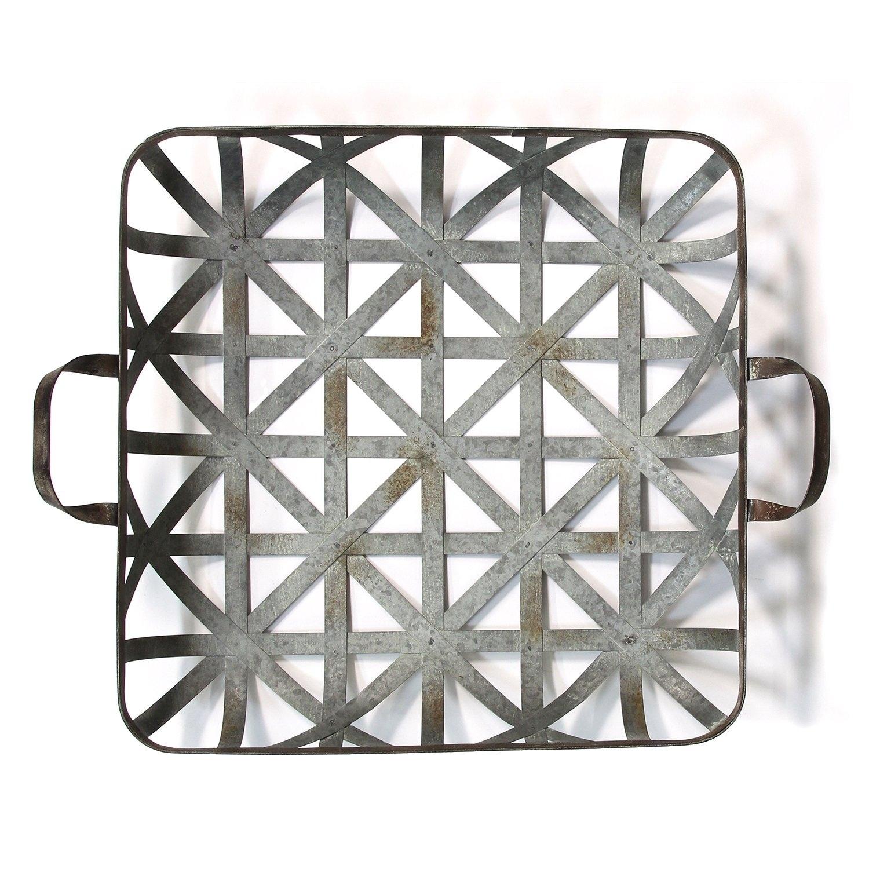 Stratton Home Decor Basket Weave Metal Tray Wall Decor N A