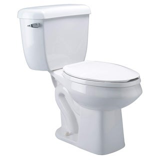 Zurn EcoVantage Dual Flush Elongated Two Piece Toliet Z5572 White