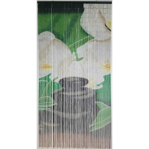 "Evideco Bamboo Beaded Curtain Doorway 90 Strings 78.8""H x 35.5""W - 78.8h x 35.5 inch /200x90 cm - 78.8h x 35.5 inch /200x90 cm"