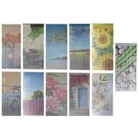 "Evideco Bamboo Beaded Curtain Doorway 90 Strings 78.8""H x 35.5""W - 78.8h x 35.5 inch /200x90 cm"