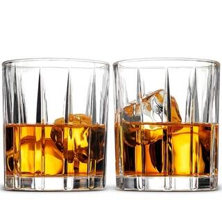 Double Old Fashioned Whiskey Glass Set, 2 - 8 Oz Cocktail Glasses