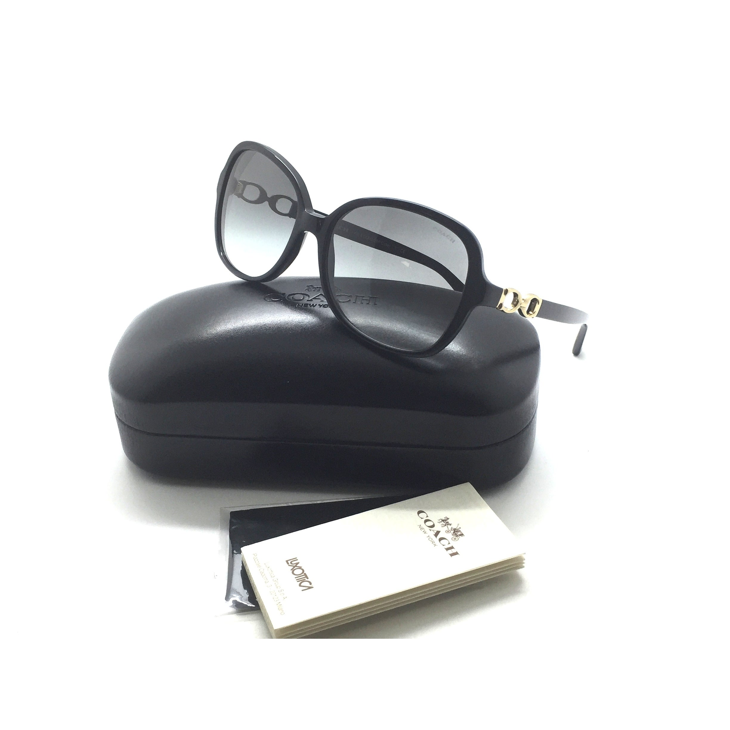 d919c7b3b38a Shop Coach Cole Black OVERSIZED Sunglasses HC8123 500211 Smoke Lenses  56-16-135 - Free Shipping Today - Overstock - 23004242