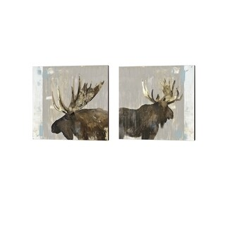 Aimee Wilson 'Moose Tails' Canvas Art (Set of 2)