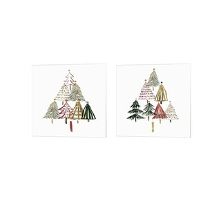Isabelle Z 'Pine Trees' Canvas Art (Set of 2)