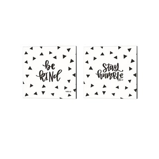 Imperfect Dust 'Be Kind & Stay Humble' Canvas Art (Set of 2)