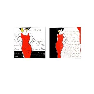 Rick Novak 'Fashion Design A' Canvas Art (Set of 2)