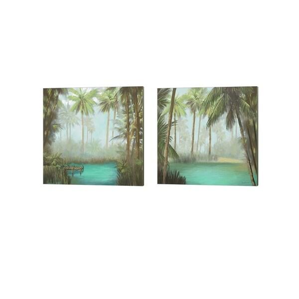 Rick Novak 'Tropical' Canvas Art (Set of 2)