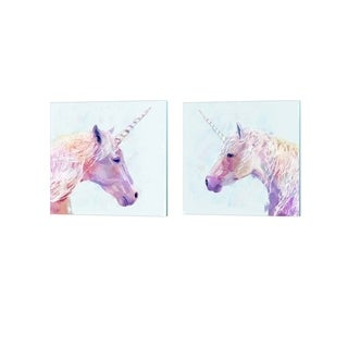 Victoria Borges 'Mystic Unicorn' Canvas Art (Set of 2)
