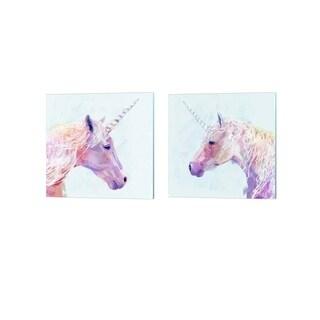 Victoria Borges 'Mystic Unicorn' Canvas Art (Set of 2)