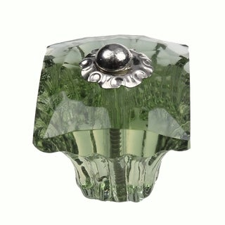 GlideRite 1.25-inch Clear Green Glass Square India Cabinet Knobs (Pack of 25)