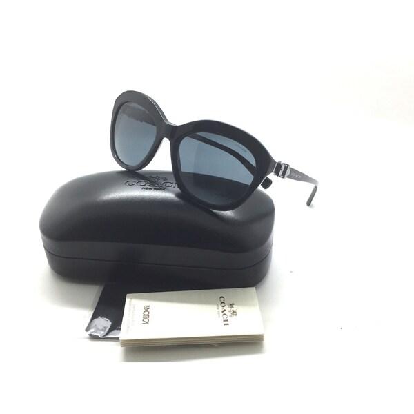 ac4e4f80f4 Shop Coach Sunglasses HC8184 500287 Black Frames Grey Lens L1600 57MM -  Free Shipping Today - Overstock - 23004536