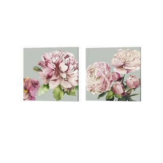 Asia Jensen 'Pink Peony' Canvas Art (Set of 2)