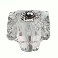 GlideRite 1.375-inch Clear Glass Square India Cabinet Knobs (Pack of 10)