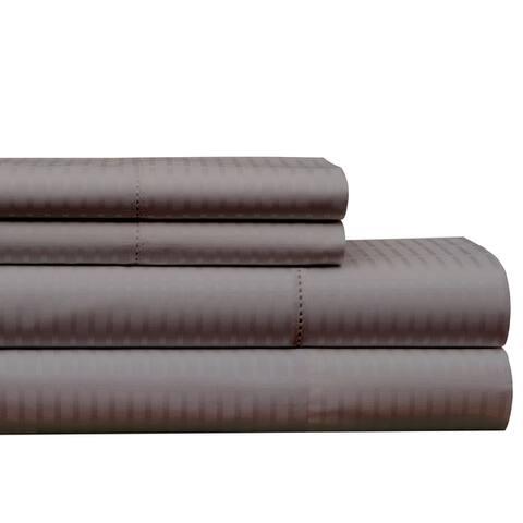 Pointehaven 450 TC Dobby Long Staple Cotton Oversized Sheet Set