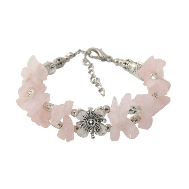 Tibet Silver Bracelet with Flower Center (China)