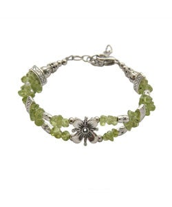 Tibet Silver Bracelet with Flower Center (China) - Thumbnail 2