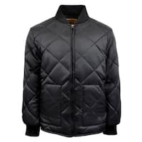Mens Diamond Quilted Nylon Zip Jacket
