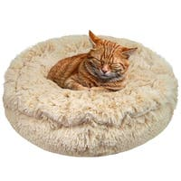 Bessie and Barnie Ultra Plush Blondie Deluxe Shag Dog/ Pet Lily Pod Bed