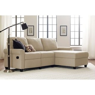 Link to Serta Copenhagen Reclining Sectional with Right Storage Chaise Similar Items in Living Room Furniture