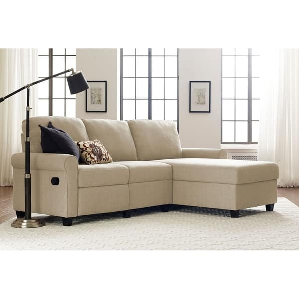 Excellent Shop Serta Copenhagen Reclining Sectional With Right Storage Dailytribune Chair Design For Home Dailytribuneorg