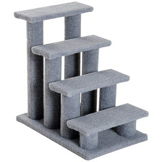 "Link to PawHut 25"" 4-Step Multi-Level Carpeted Cat Scratching Post Pet Stairs - Grey Similar Items in Cat Ramps & Stairs"