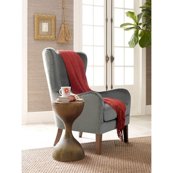543b33f89 Shop Elle Decor Wingback Chair - Free Shipping Today - Overstock ...