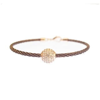 Link to Kabl Stackable Twisted Stainless Steel Cable Bangle Bracelet Similar Items in Bracelets