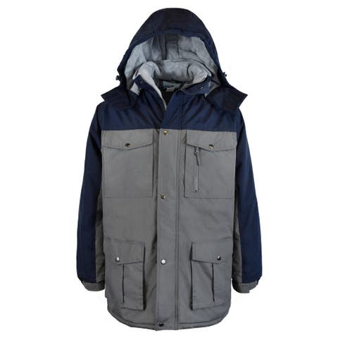 Men's Heavy Insulated Parka with Removable Hood