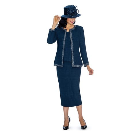 Giovanna Signature Women's Beauty of Jacquard 3-piece Skirt Suit