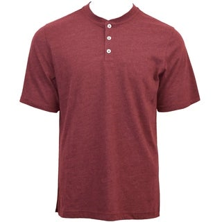 Mens Heather Short Sleeve Henley