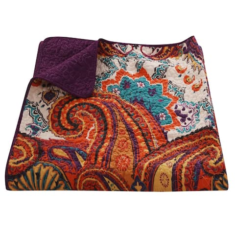The Curated Nomad Horsdal Spice Quilted Throw