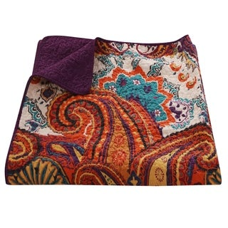 Greenland Home Nirvana Spice Quilted Throw