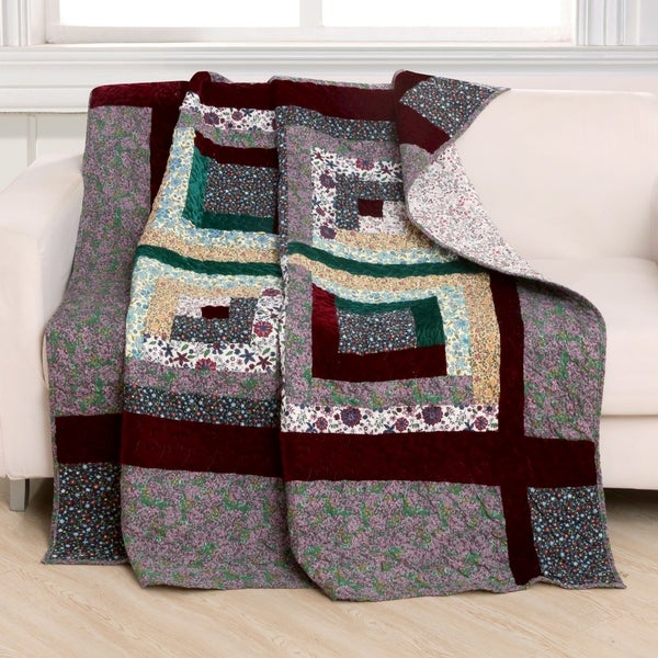 Shop Greenland Home Pine Grove Quilted Throw Free Shipping Today