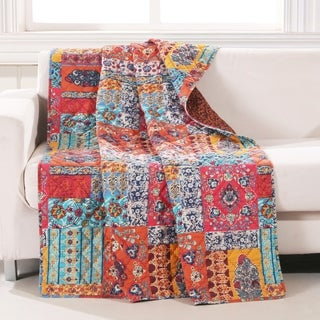 Barefoot Bungalow Indie Spice Quilted Throw