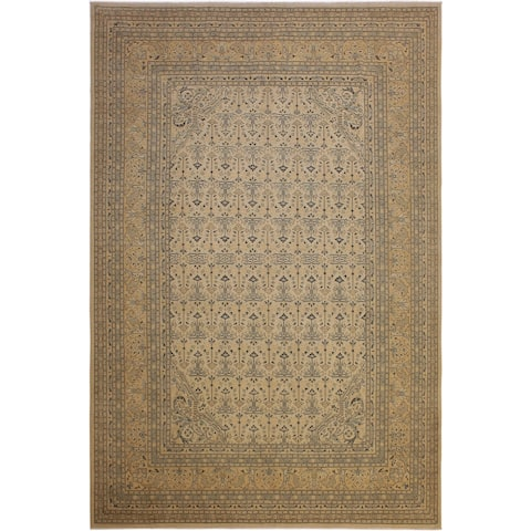 Kafkaz Sun-Faded Denese Ivory/Lt.orange Hand-Knotted Rug (10'1 x 13'11) - 10 ft. 1 in. x 13 ft. 11 in.