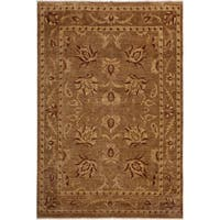 Kafkaz Peshawar Macy Dark Tan/Rust Hand-Knotted Rug (8'11 x 11'9) - 8 ft. 11 in. x 11 ft. 9 in.