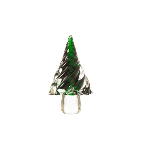 Glitzhome Table Decor Glass Christmas Tree